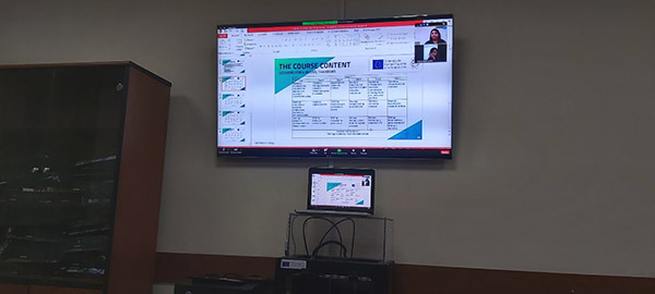 Online meeting to discuss the organization of the English language course among the project partners from Central Asia.