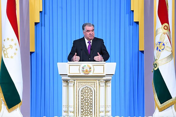 Address on key aspects of Tajikistan's domestic and foreign policy by the President of the Republic of Tajikistan, the Leader of the Nation, H.E. Emomali Rahmon to the Parliament of the Republic of Tajikistan