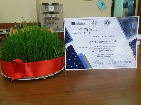 Сertificate ceremony to the  IT specialists of the Technological University of Tajikistan